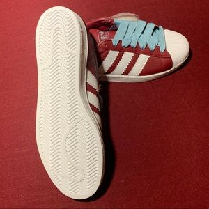 Adidas Mens Superstar Shoes Burgundy NWT sz11